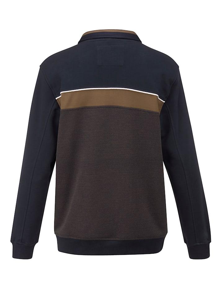 Sweatshirt mit feiner Jacquard-Struktur