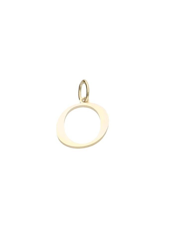 Luigi Merano Anhänger Buchstabe O, Gold 333, Gold