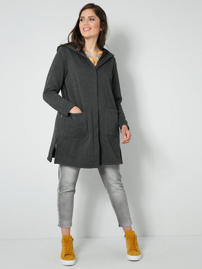 Longfleece-Jacke aus Strickfleece