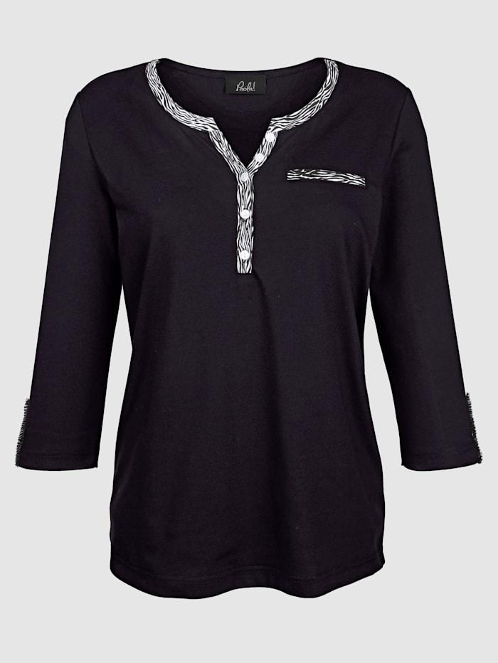 Shirt van een aangename katoenmix