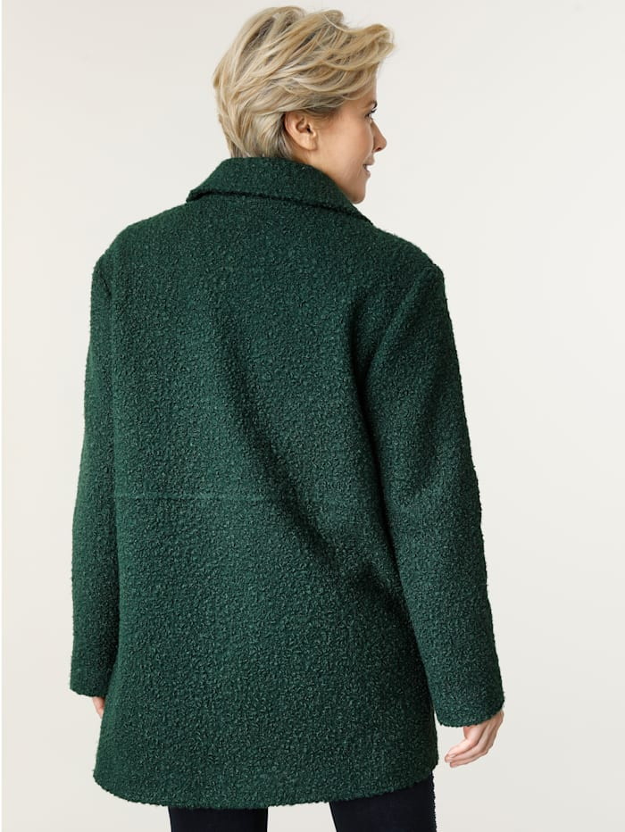 Jacke in Bouclé- Optik
