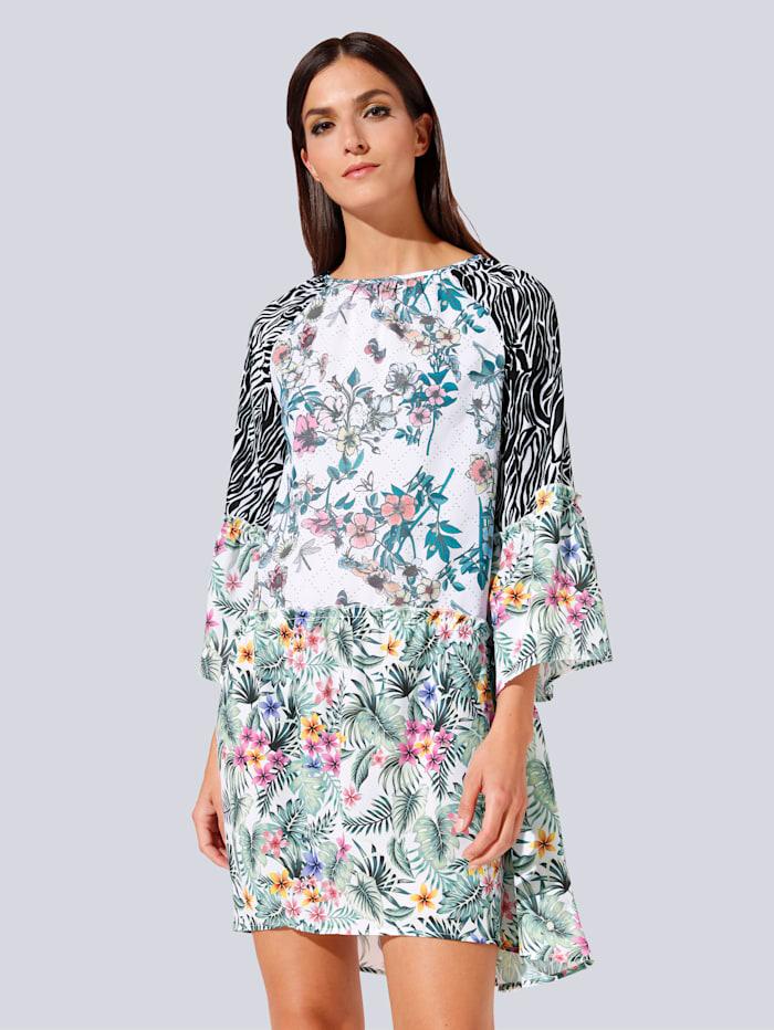 JETTE JOOP Kleid im farbharmonischem Blumendruck, Weiß