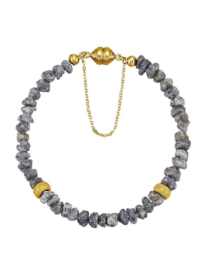 Diemer Atelier Bracelet en diamant brut, Gris