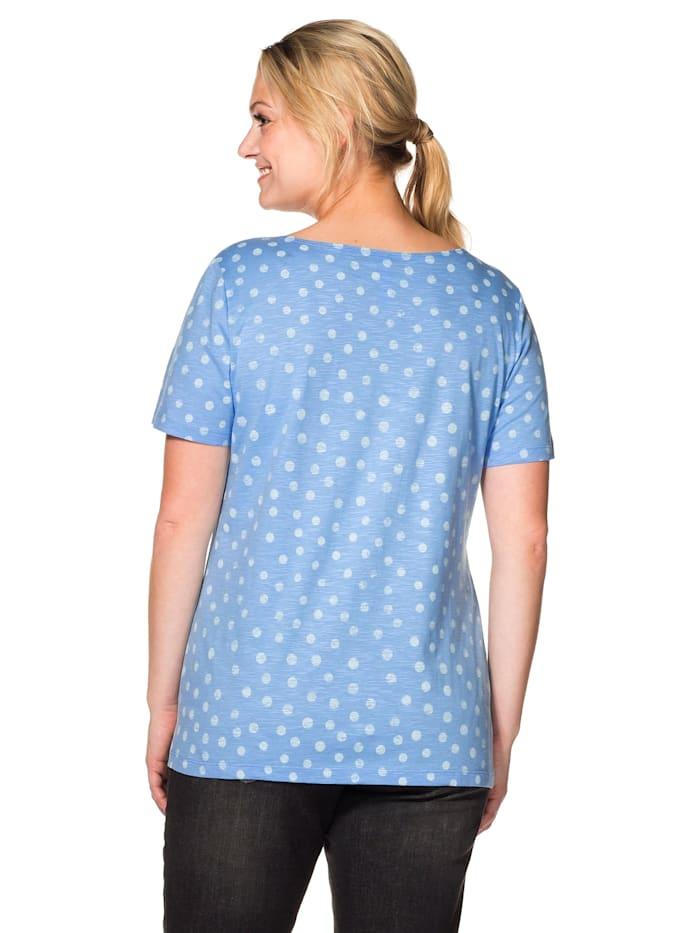Sheego T-Shirt mit Pünktchendruck