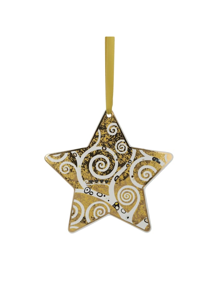 Goebel Goebel Hängeornament Gustav Klimt - Der Lebensbaum gold-weiß, Klimt - Lebensbaum