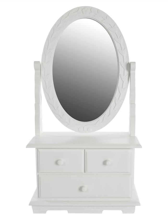 TopHome Mini-Kommode mit Spiegel, Weiß