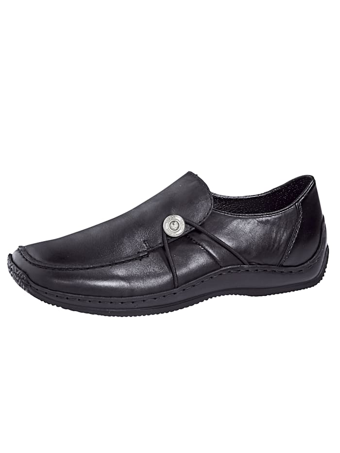 Slip-ons with fashionable decorative button