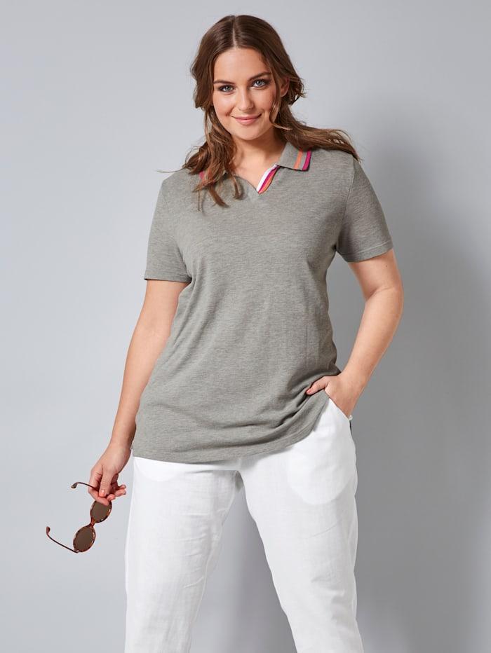 Poloshirt mit kurzer Knopfleiste