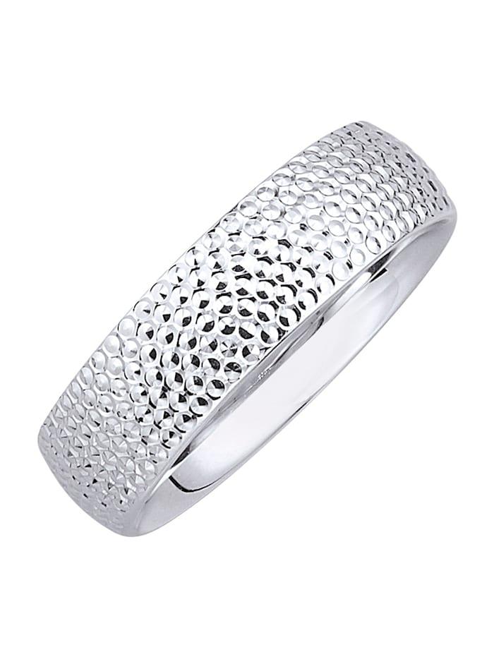 Diemer Gold Ring i hvitt gull 585, Hvit
