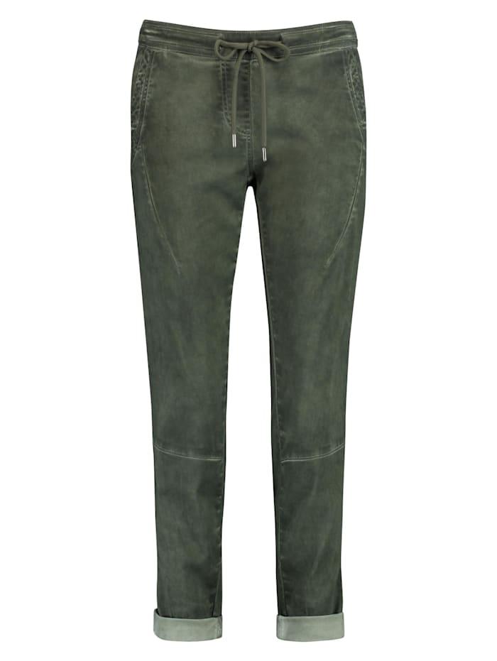 Taifun Lässige Hose mit Cold dye Loungepants TS Organic Cotton, Botanical Green