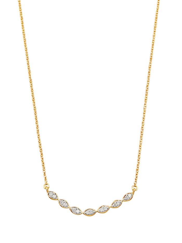 Halsband med briljanter, Guldfärgad