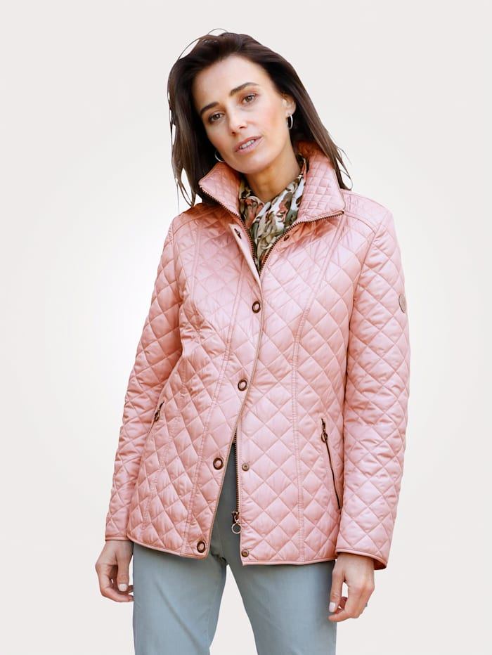 Barbara Lebek Jacket with on-trend quilting, Rosé