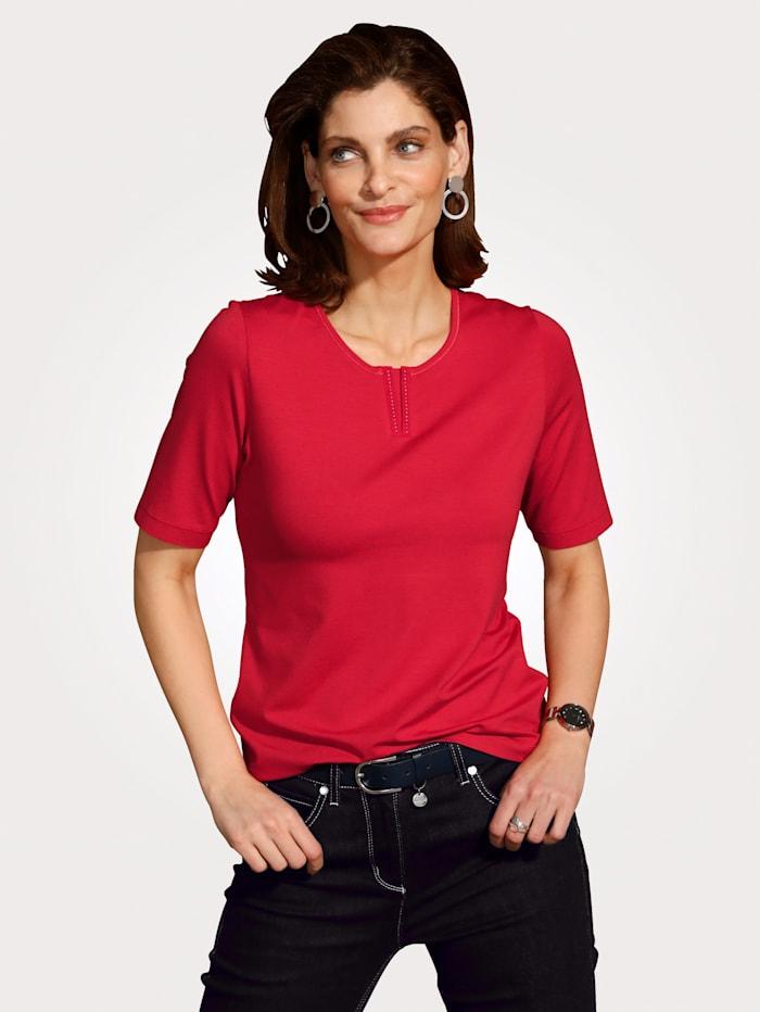 Rabe T-shirt à éléments fantaisie, Rouge