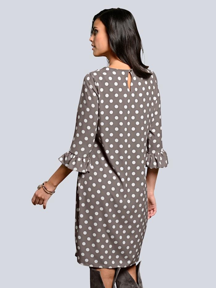 Kleid in modischem Punktedessin