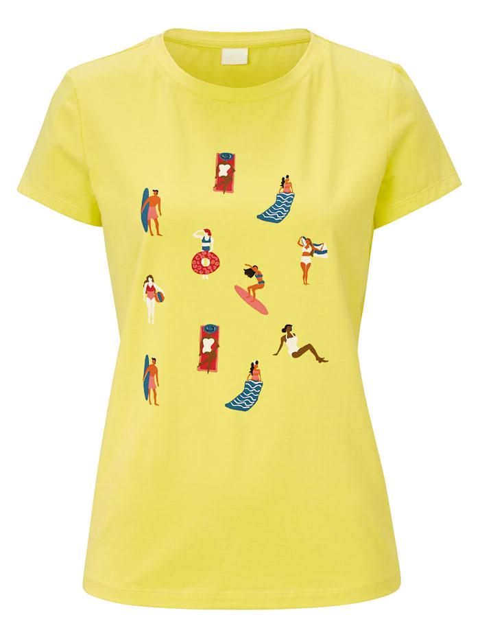 REKEN MAAR Shirt, Zitronengelb