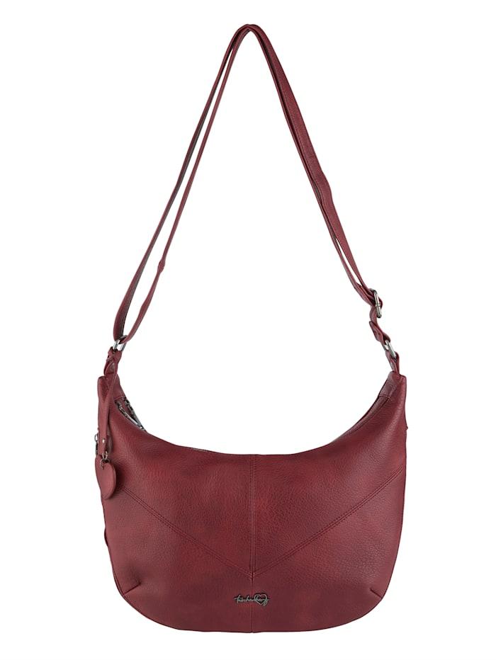 Taschenherz Handbag in an adjustable size, Bordeaux