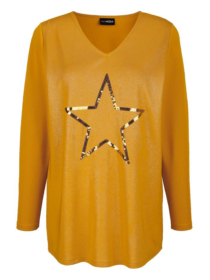 Shirt mit Pailletten-Stern