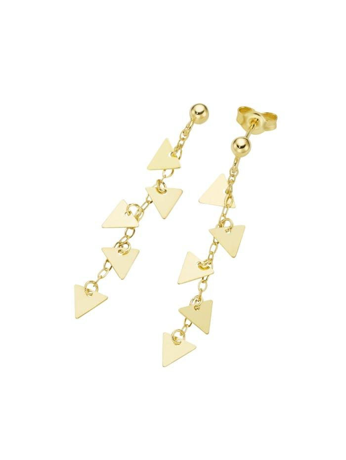 Luigi Merano Ohrstecker mit Dreieck - Behängen, Gold 375, Gold