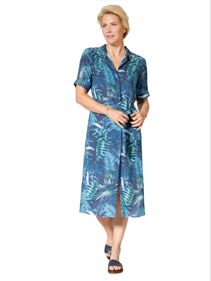 Hemdkleid im schönen Blätterdruck-Dessin