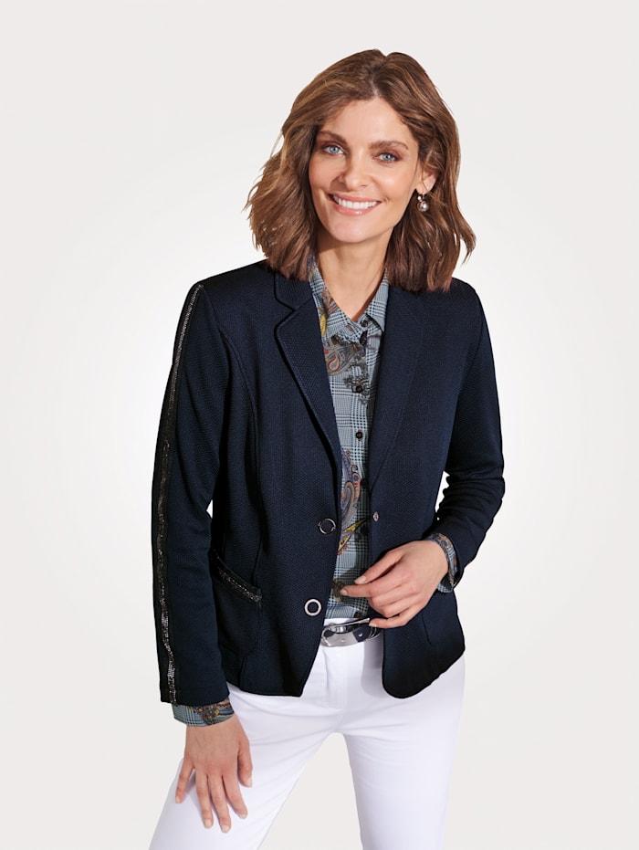 Barbara Lebek Jersey-Blazer, Marineblau