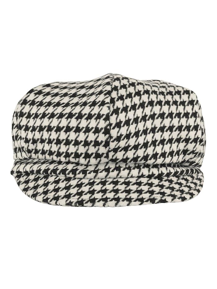 MONA Bakerboy cap, Black/White