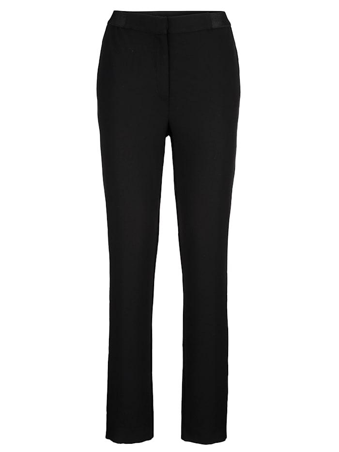 Alba Moda Hose teils mit elastischem Bund, Schwarz