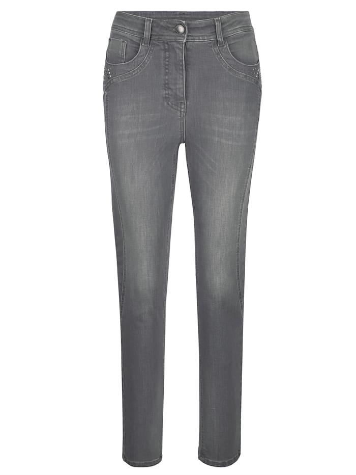 Jeans with rhinestone embellishments
