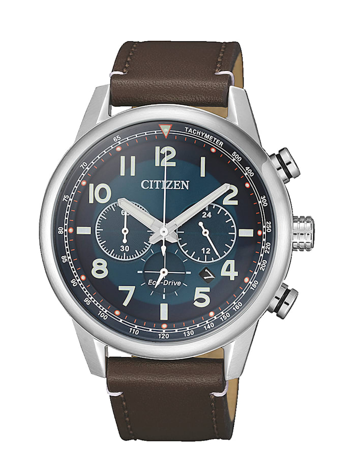 Citizen Herrenuhr-Chronograph Eco-Drive,, Braun
