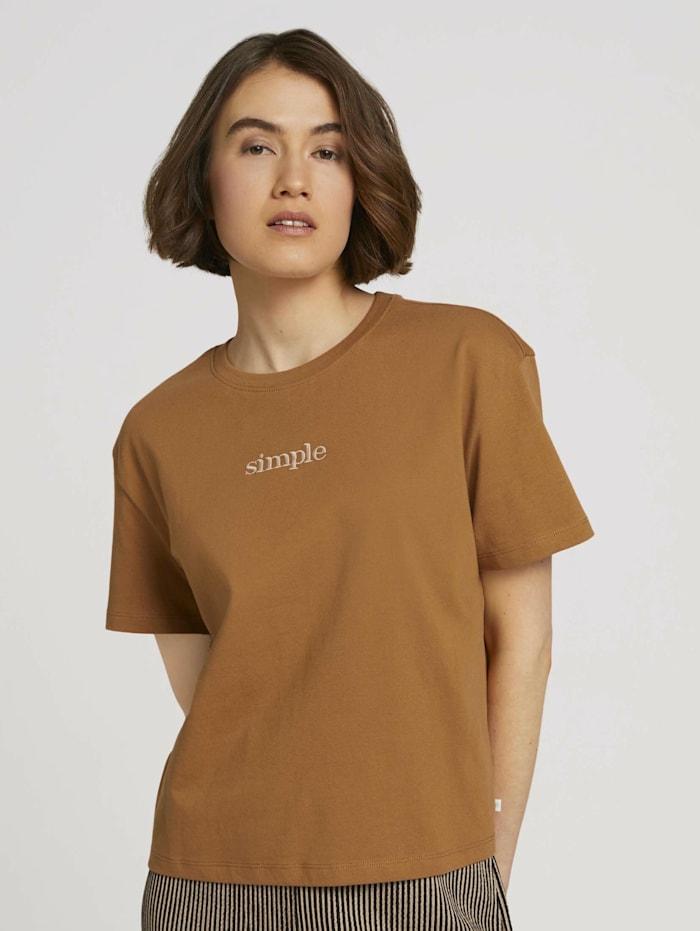 Cropped T-Shirt mit Bio-Baumwolle