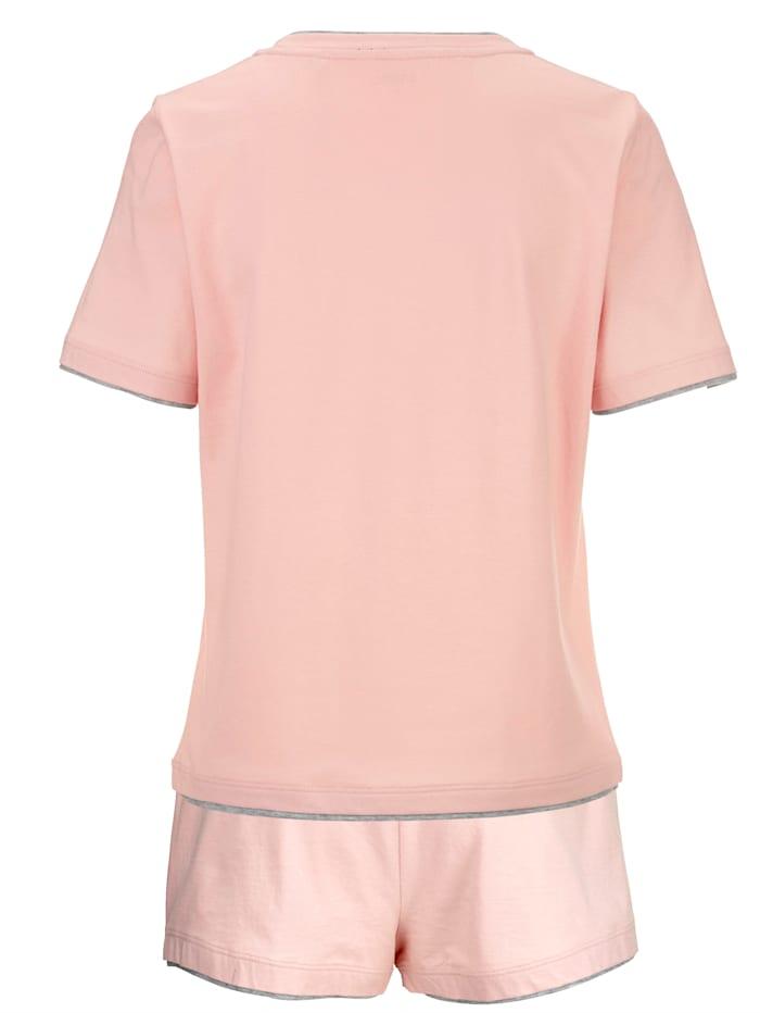 Short pyjamas with slogan