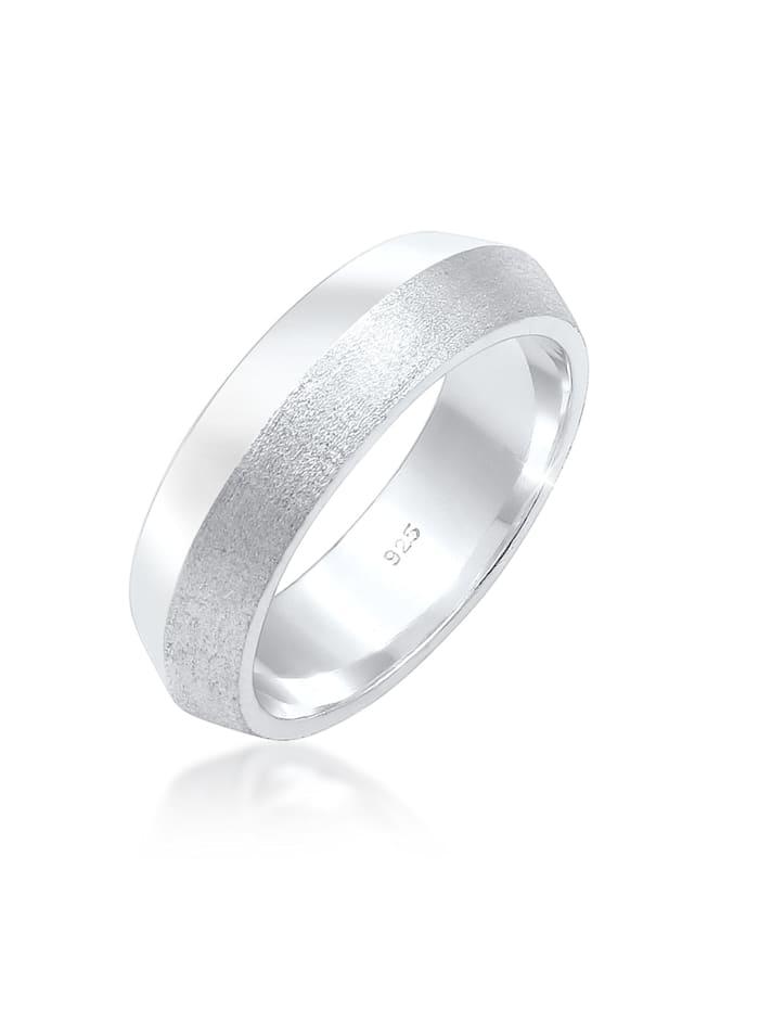 Elli Premium Ring Paarring Bandring Trauring Hochzeit 925Er Silber, Silber