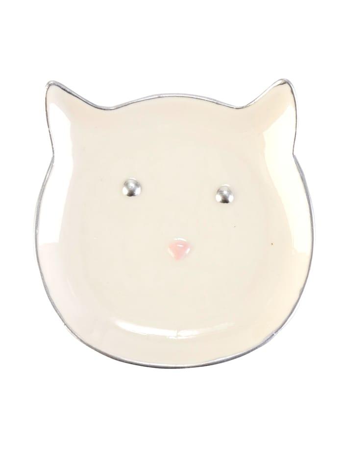 Schmuckschale, Katze