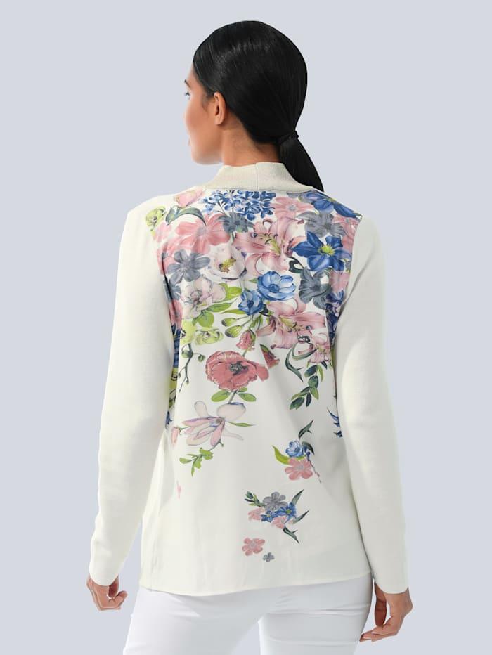 Tričkový kabátik s exkluzívnou Alba moda potlačou vzadu