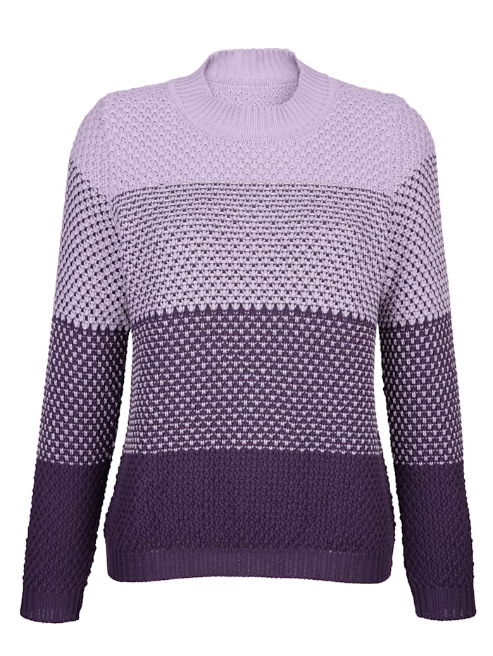 Jumper with knitted cuffs