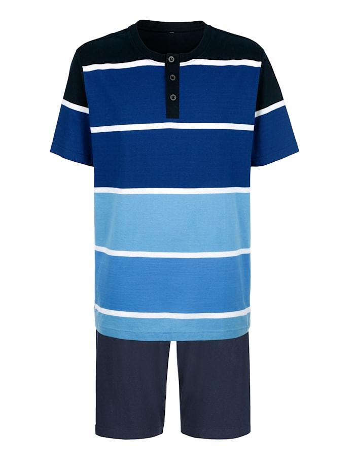 Pyjashorts à motif rayé tissé teint