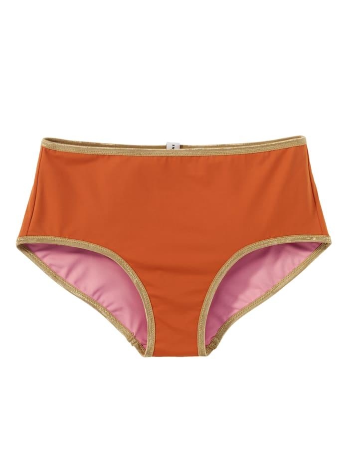 Mymarini Wende-Bikinihose, Orange/Rosé