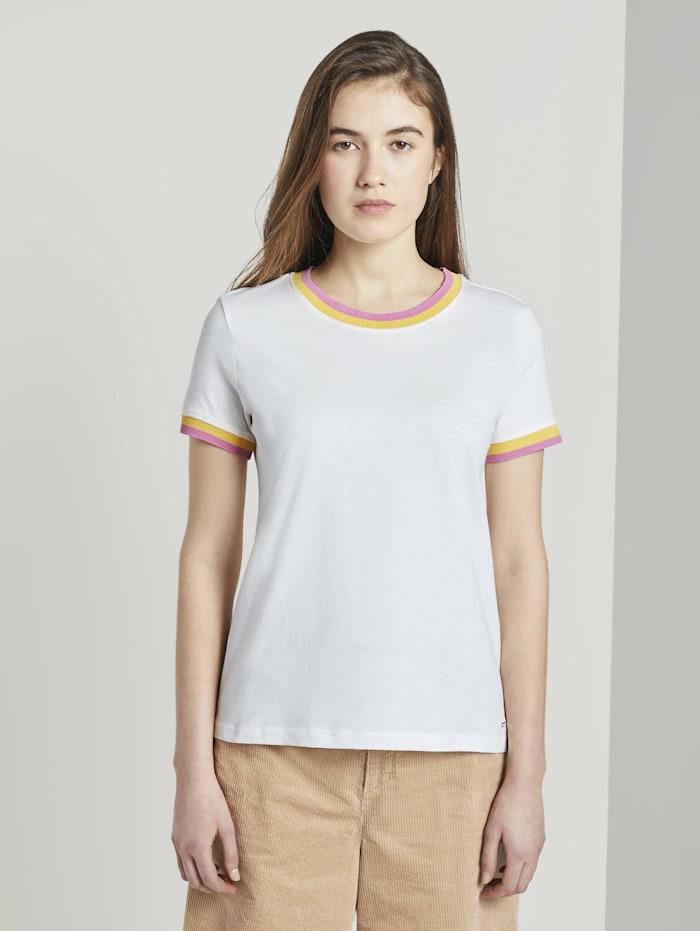 Tom Tailor Denim Jersey T-Shirt, Off White