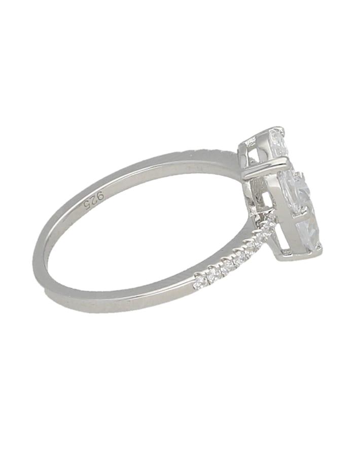 Ring Zirkonia Steine, glanz, Silber 925