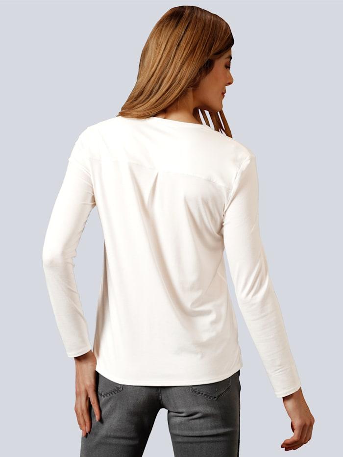 Blusenshirt mit kleinem V-Ausschnitt