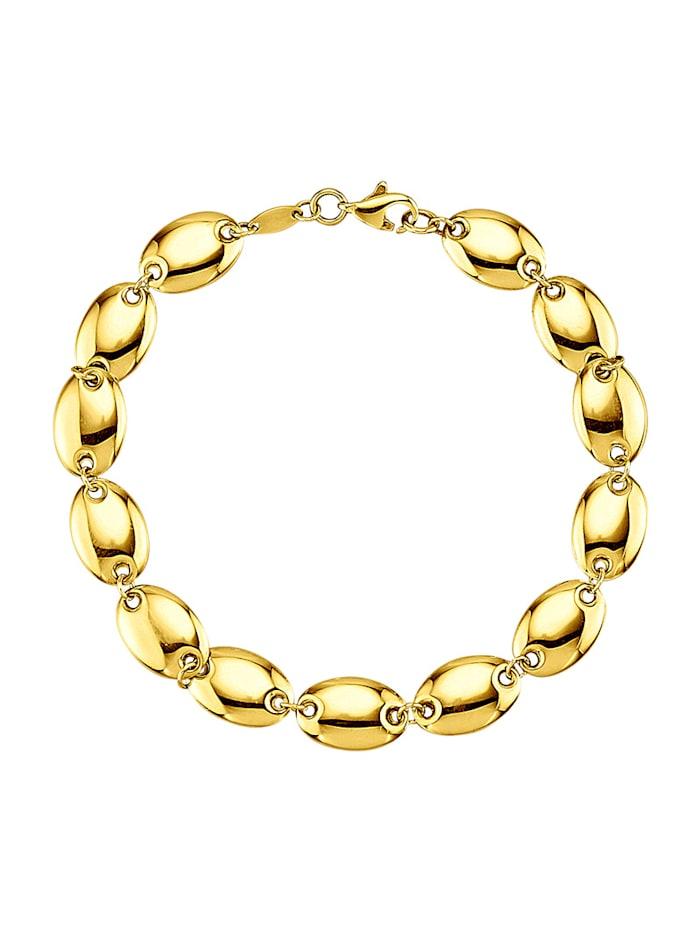 Bracelet en or jaune 375, Coloris or jaune
