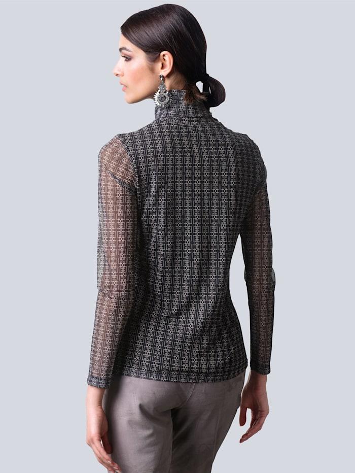 Shirt im neu designtem grafischen Muster allover
