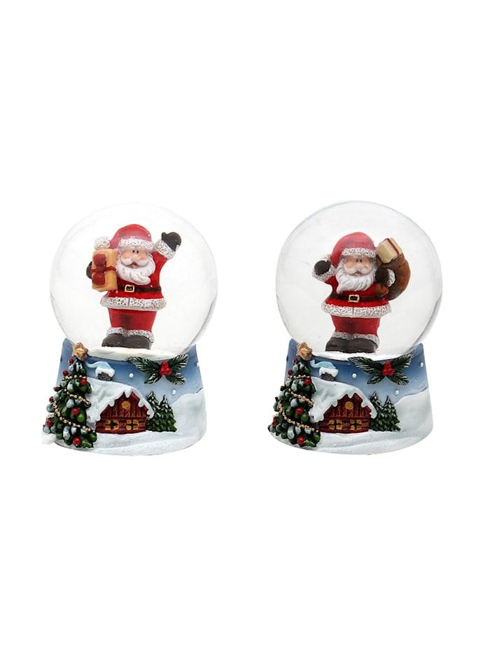 Sigro Schneekugel 2fach sortiert Weihnachtsmann, Bunt