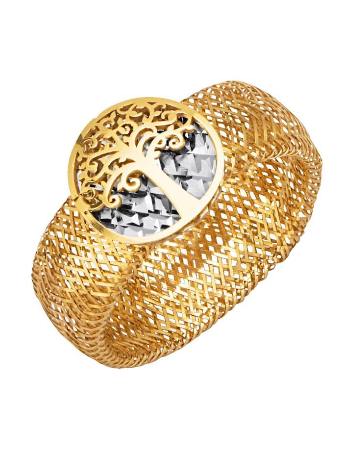 Mesh-Ring in Gelbgold 375, Gelbgoldfarben