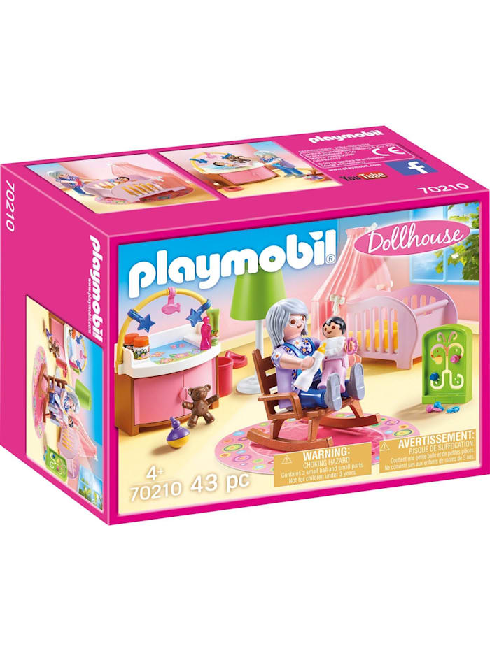 PLAYMOBIL Konstruktionsspielzeug Babyzimmer, Bunt