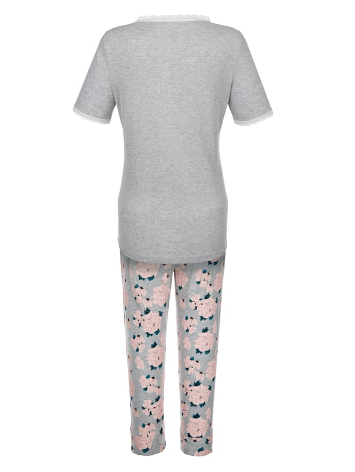 Pyjama van comfortabele, geribde jersey