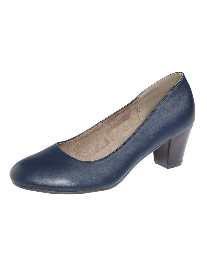 Liva Loop Pumps in klassischer Optik, Marineblau