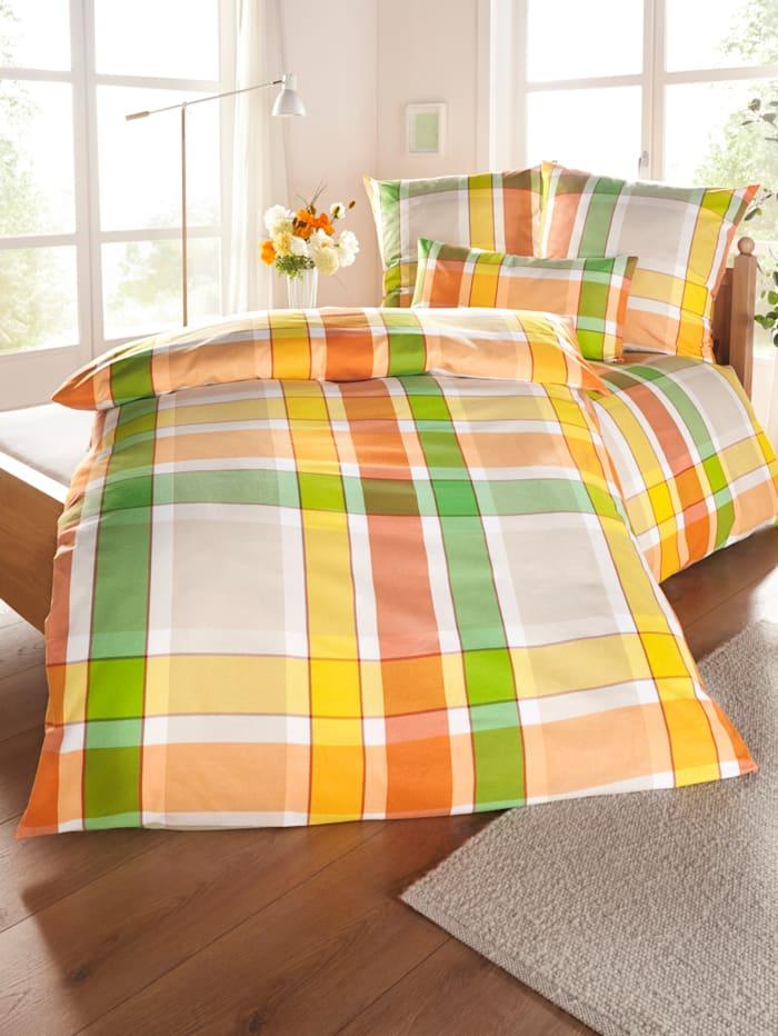 Webschatz Sengesett i 2 deler -Olle-, grønn mønstret