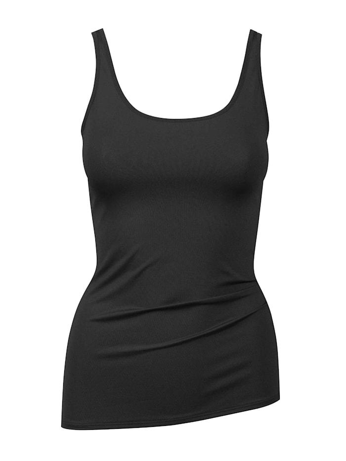 Calida Top ohne Arm Ökotex zertifiziert, black