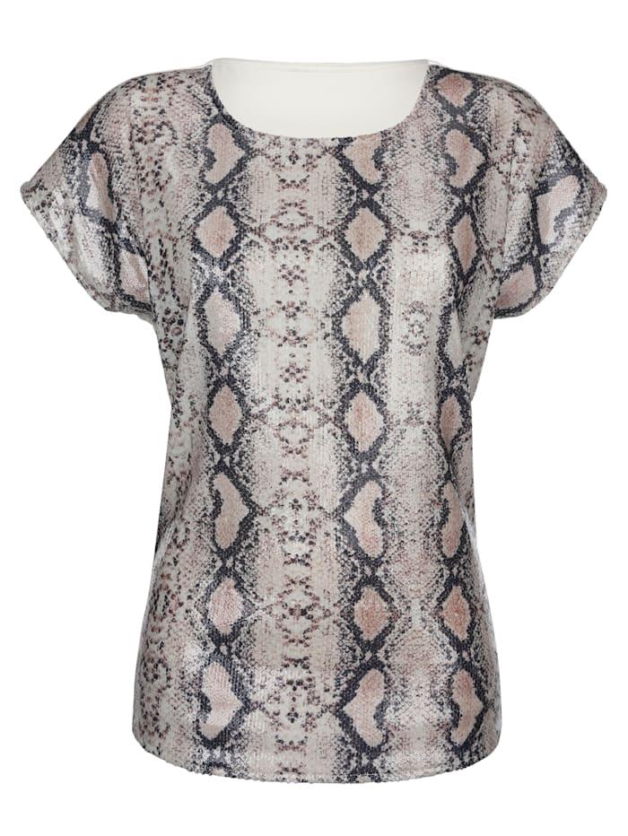 Shirt met gestileerde slangenprint voor