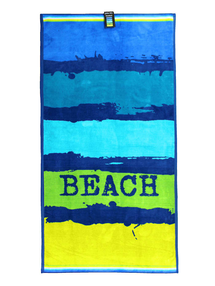 jilda-tex Strandtuch Velour 'Painted Beach', Multi